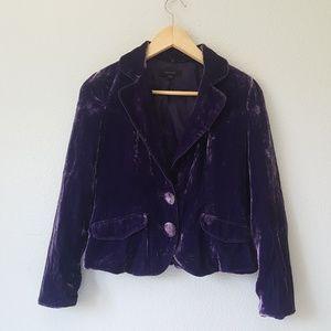 Vera Moda Vintage Silk Royal Purple Velvet Blazer
